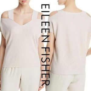 Eileen Fisher Cold Shoulder Tencel Top Blouse